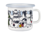 Muurla Moomin Winter Forest enamel mug 2,5 dl