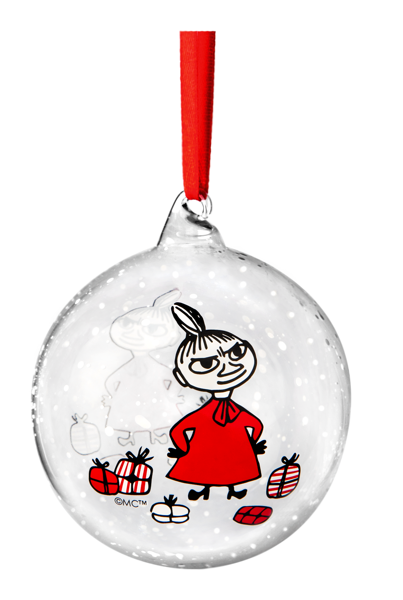 Muurla Moomin Winter Magic - Little My decoration ball 9 cm