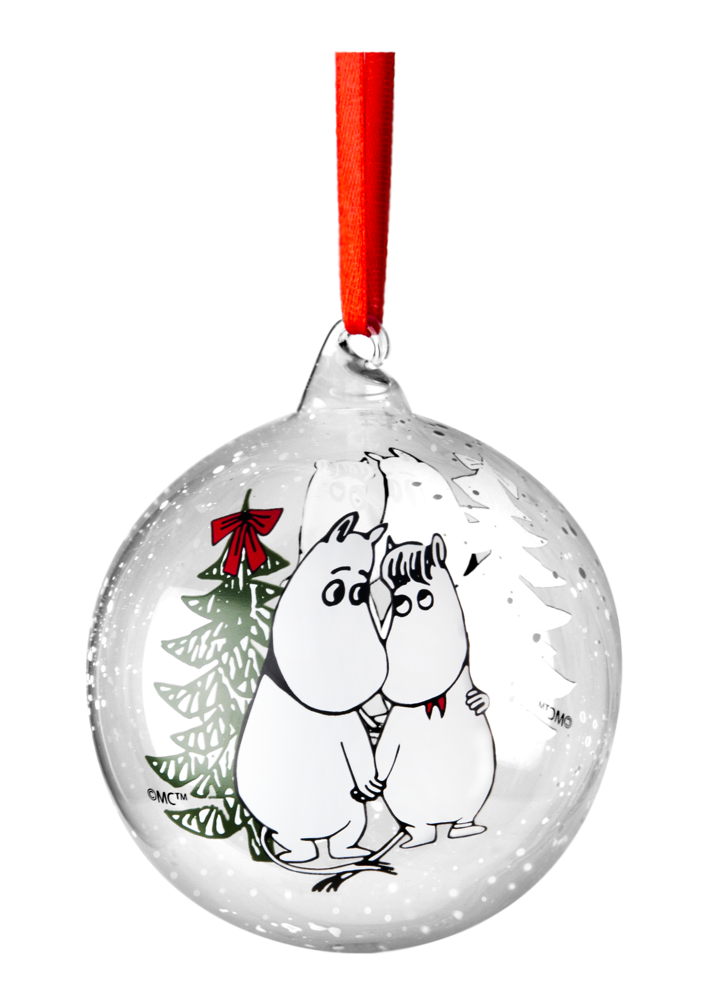 Muurla Moomin Winter Magic decoration ball 9cm