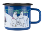 Muurla Moomin Winter Night enamel mug 3,7dl