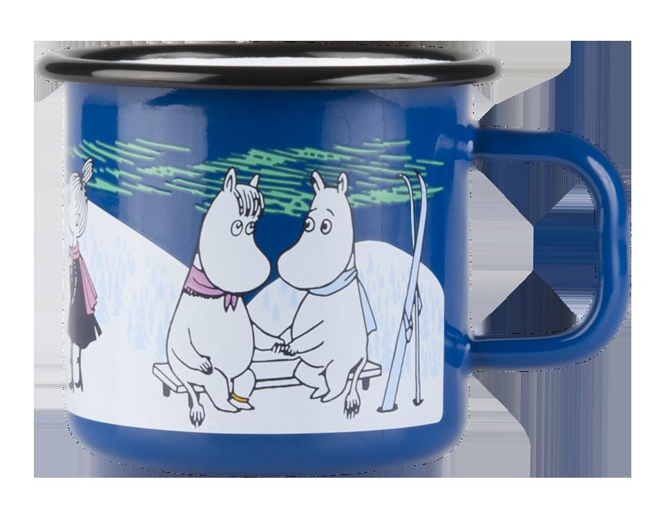 Muurla Moomin Winter Night enamel mug 3,7dl