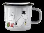 Muurla Moomin Winter Trip enamel mug 3,7dl