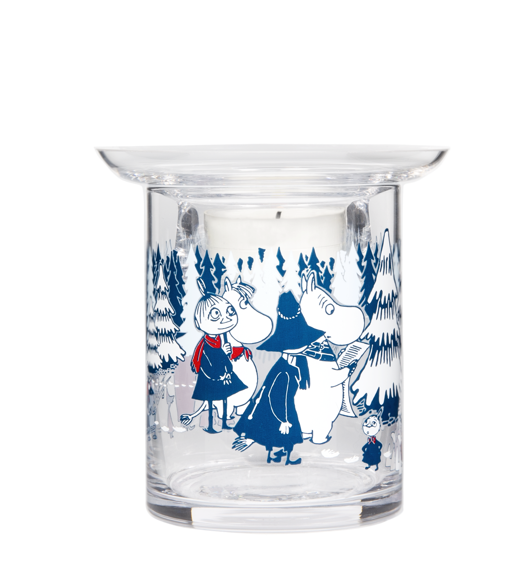 Muurla Moomin Winter Forest tealight holder 10 cm