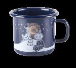 Muurla Enamel mug 2,5dl Winter Romance