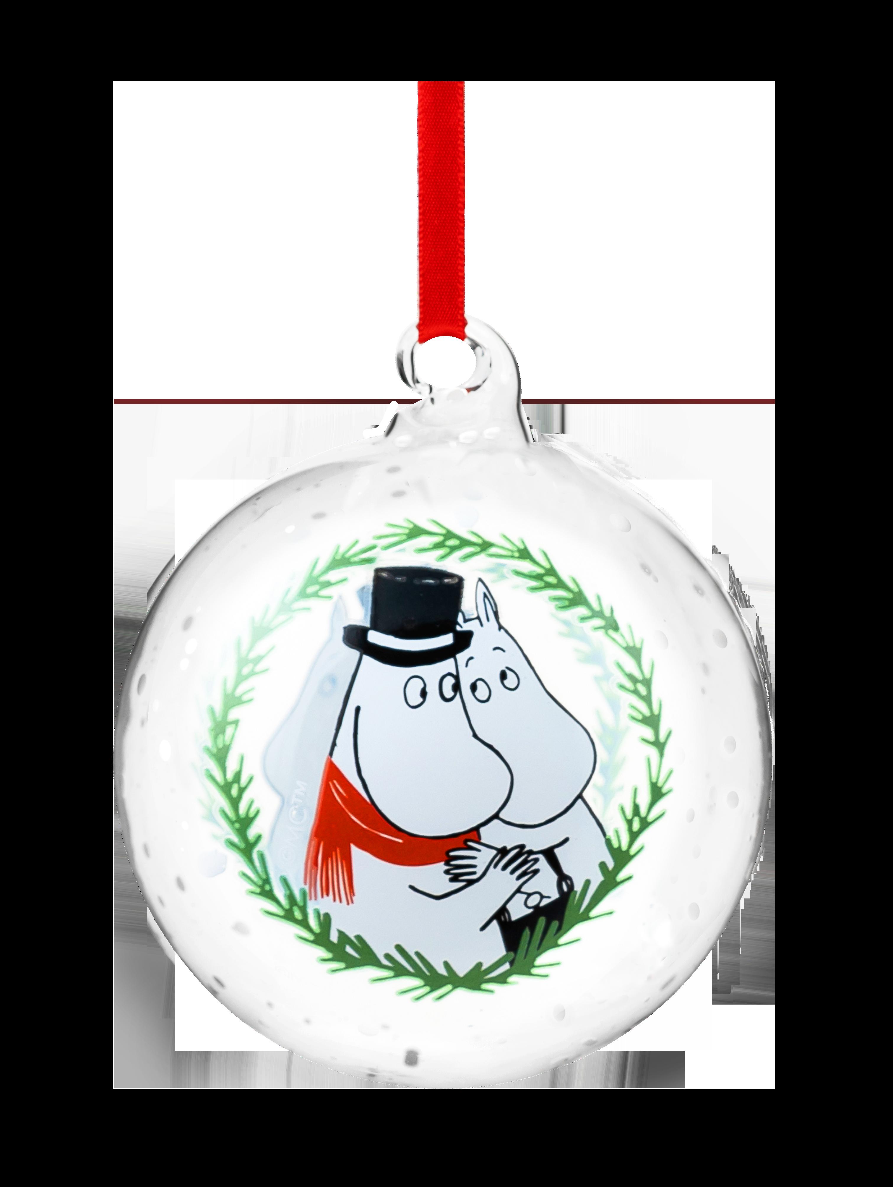 Moomin by Muurla Moominpappa & Moominmamma decoration ball 9 cm