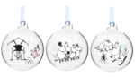 Moomin by Muurla Muumilaakson talvi decoration ball 9 cm, set of 3