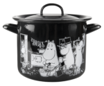 Muurla Moomins in the kitchen enamel pot 3,5L