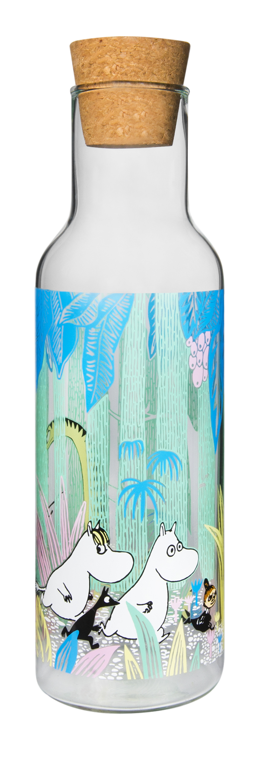Muurla Moomins in the Jungle glass bottle 1L