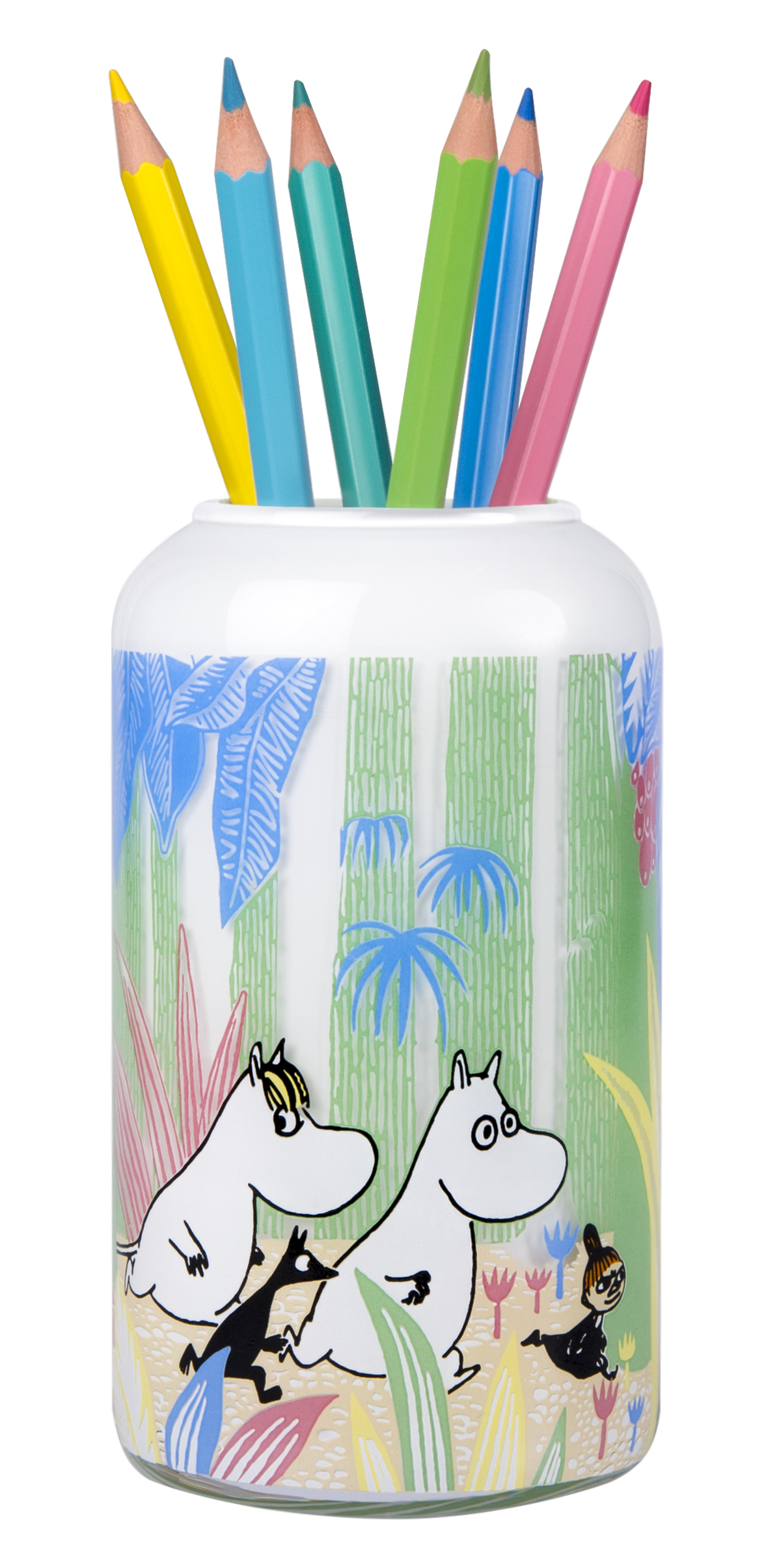 Muurla Moomins in the Jungle glass vase/jar 12 cm