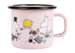 Muurla Moomin Sea Adventure enamel mug 2,5 dl - light pink