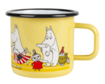Muurla Moomin Sea Adventure enamel mug 3,7 dl - yellow