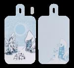 Moomin by Muurla Snowy Valley Chop & serve 23x44 cm