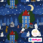 Stofflykke - Night in the Moomin Valley - Fabric