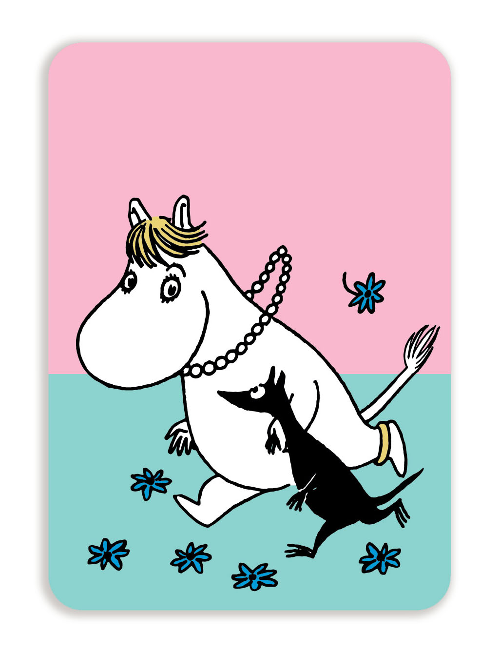 Putinki Postcard with rounded corners Snorkmaiden running