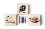 Puulelut Moomin sewing kit in a wooden box