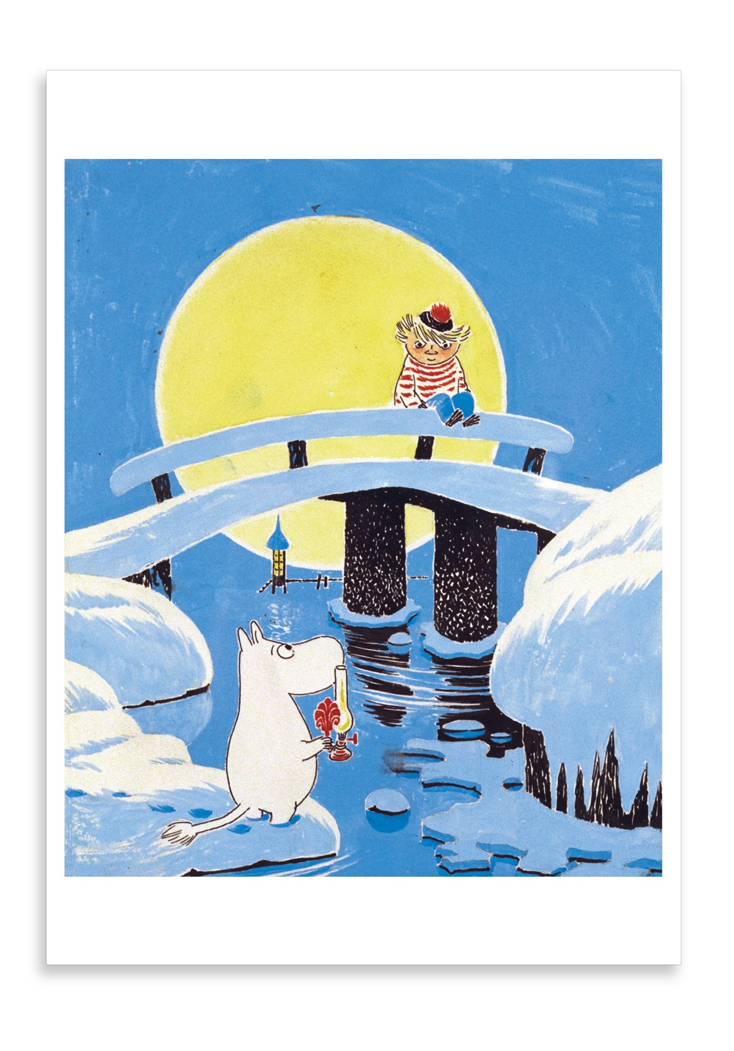 Putinki Postcard Moominland Midwinter Bridge