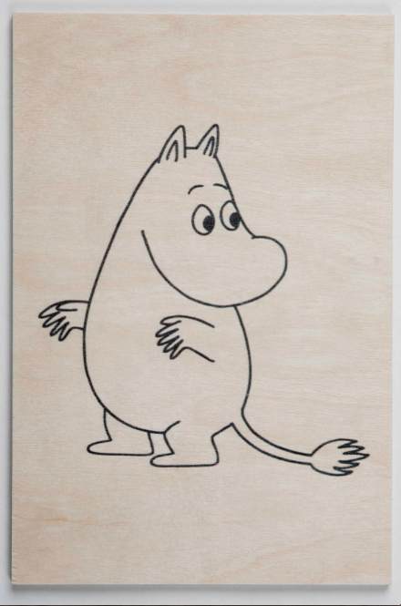 Come to Finland Moomintroll wooden postcard