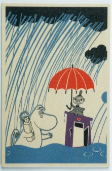 Come to Finland Rain wooden postcard