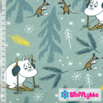 Stofflykke - Skiing Ice Blue - Jersey fabric