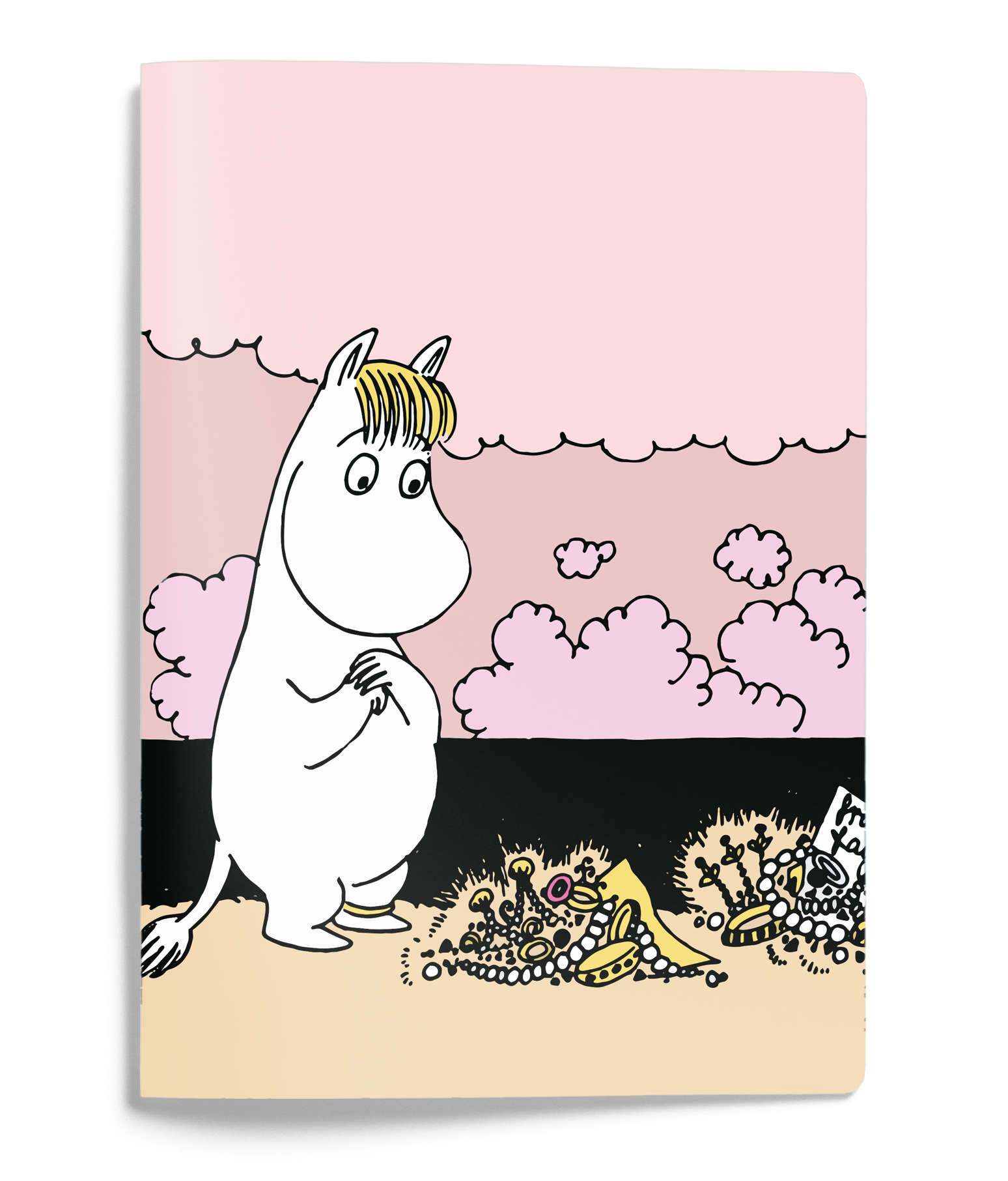 Putinki Softcover Notebook A5 Snorkmaiden on a shore