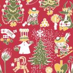 Suomen Kerta Oy Christmas Moomin napkin red
