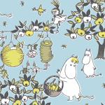Suomen Kerta Oy Festive Moomin napkin light blue