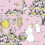 Suomen Kerta Oy Festive Moomin napkin pink