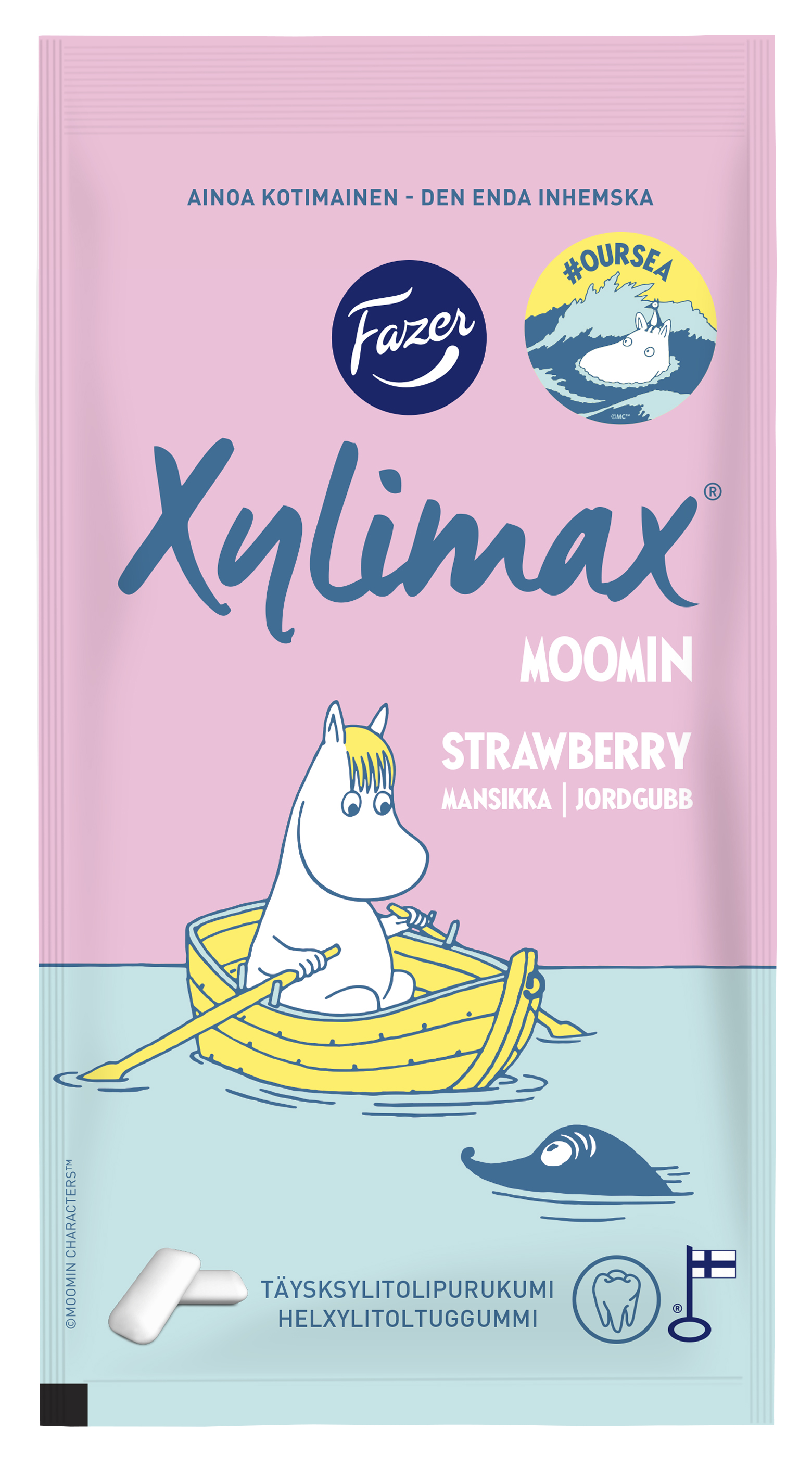 Fazer Xylimax Moomin chawing gum strawberry