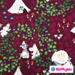 Stofflykke - Blueberry Dark Fuchsia - Fabric
