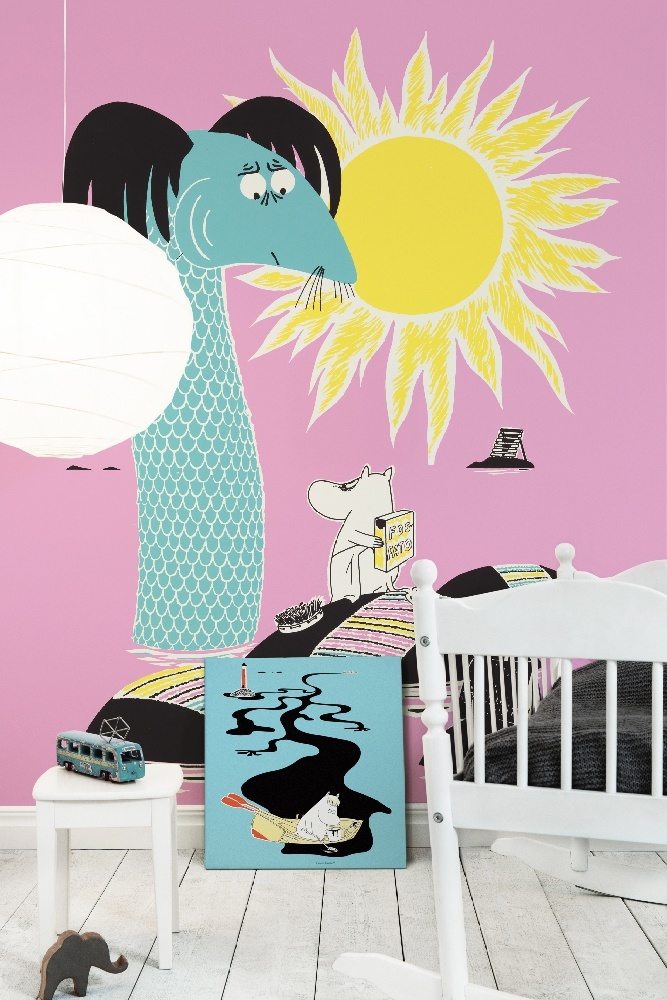 """Photowall Wall mural """"Keep Sweden Tidy - Pink"""" and canvas print """"Keep Sweden Tidy - Blue"""""""