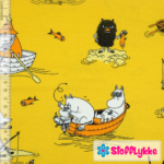 Stofflykke - Fishing Luck Sun Yellow - Jersey fabric