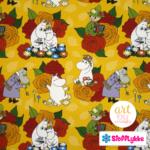 Stofflykke - Hemulens Roses Ochre - Fabric