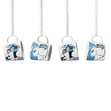 by Arabia Moomin minimug set Crown snow-load (set of 4pcs)