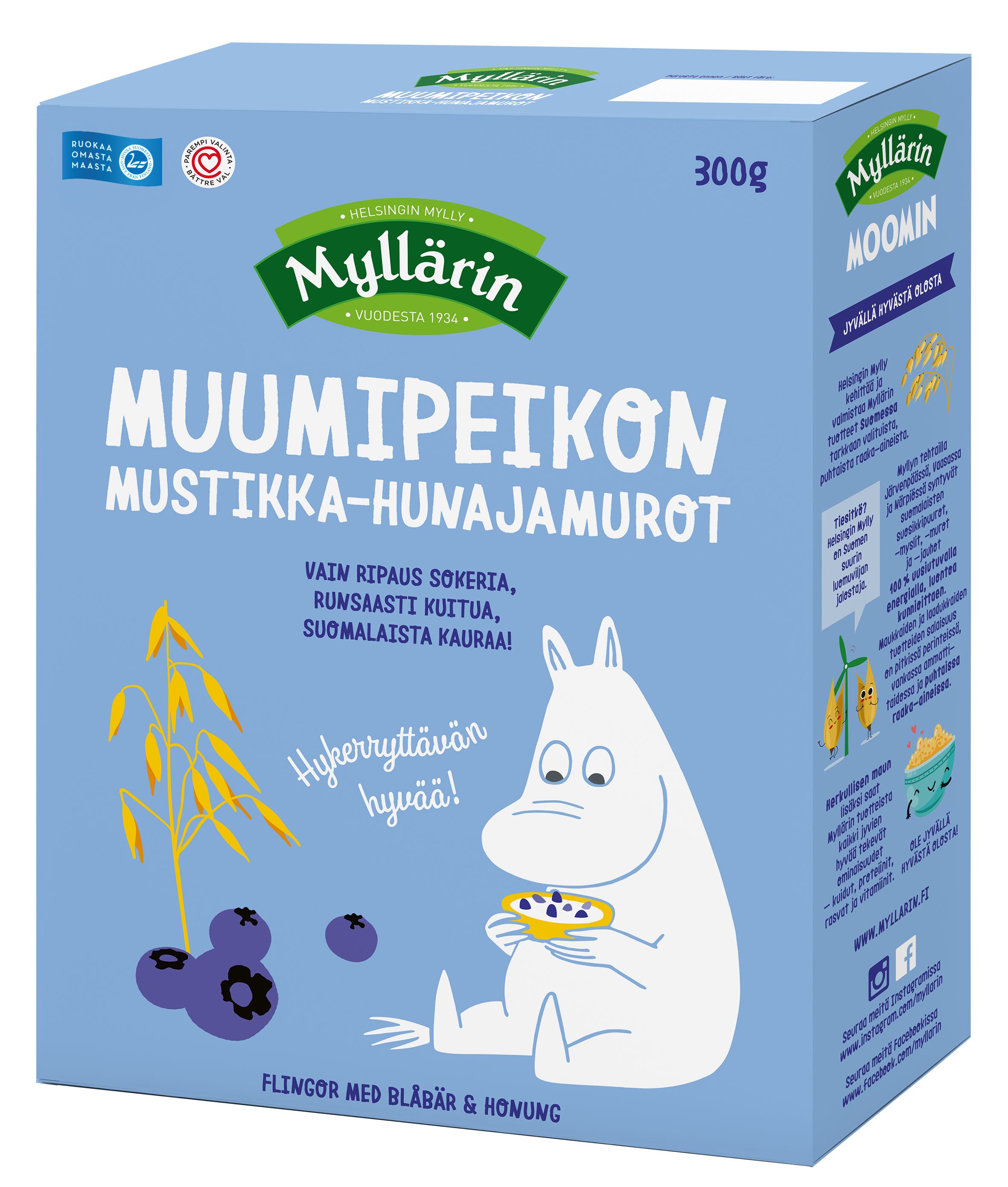 Myllärin Moomintroll's Blueberry-Honey Cereals 300 g