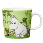 by Arabia Moomin mug 0,3L Moomintroll grass green