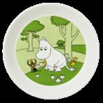 by Arabia Moomin plate 19cm Moomintroll grass green