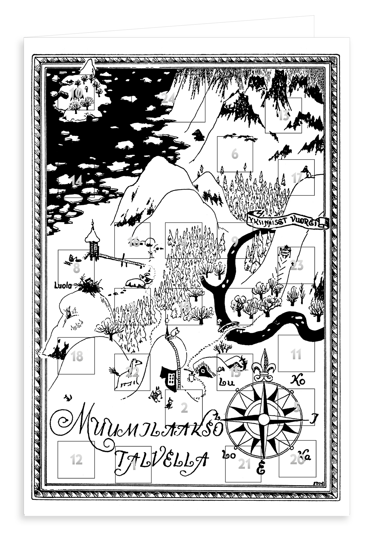 Putinki Advent Calendar Muumilaakso talvella
