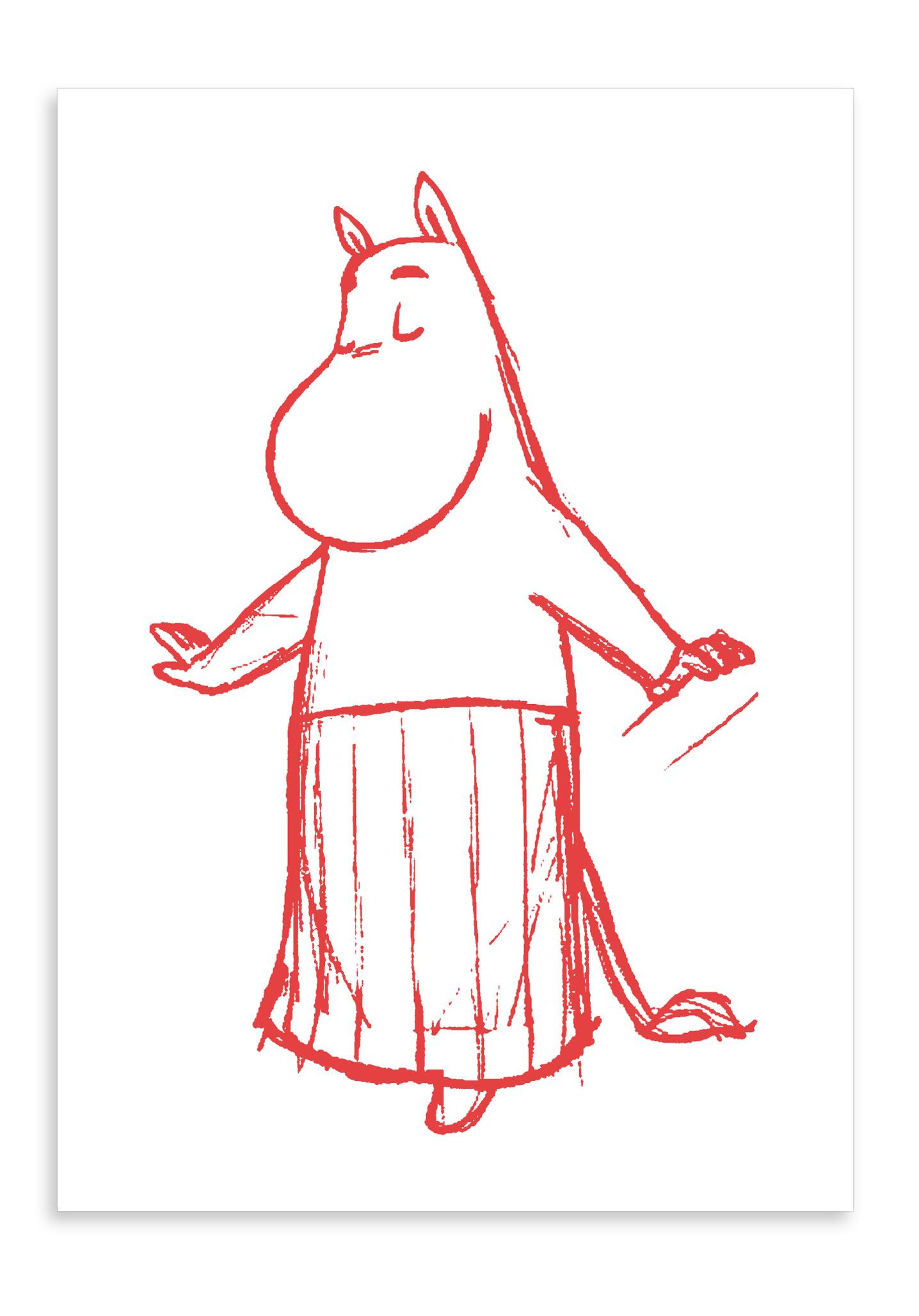 Putinki Letterpress Postcard Moominmamma