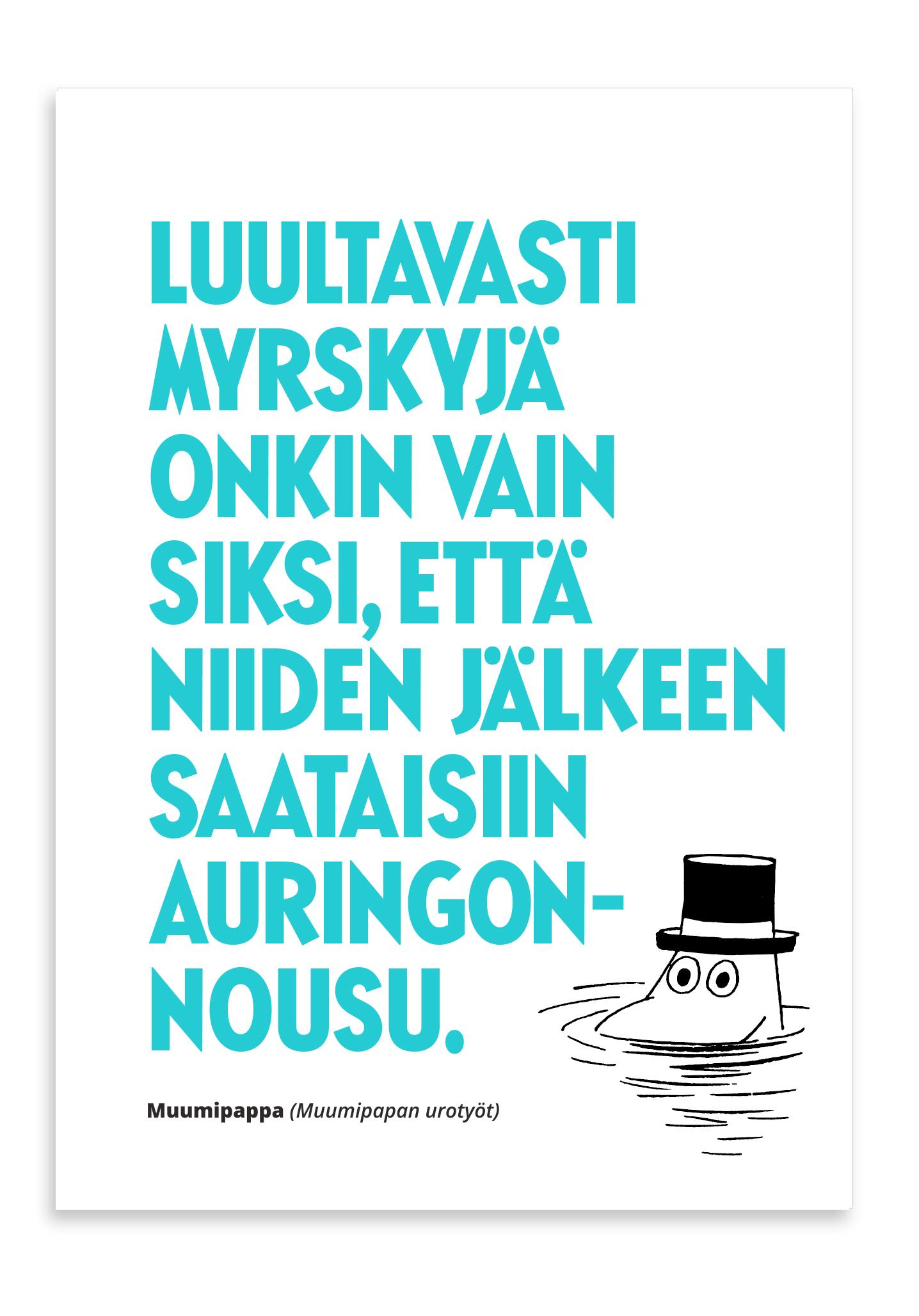 Putinki Letterpress Postcard Myrskyjä