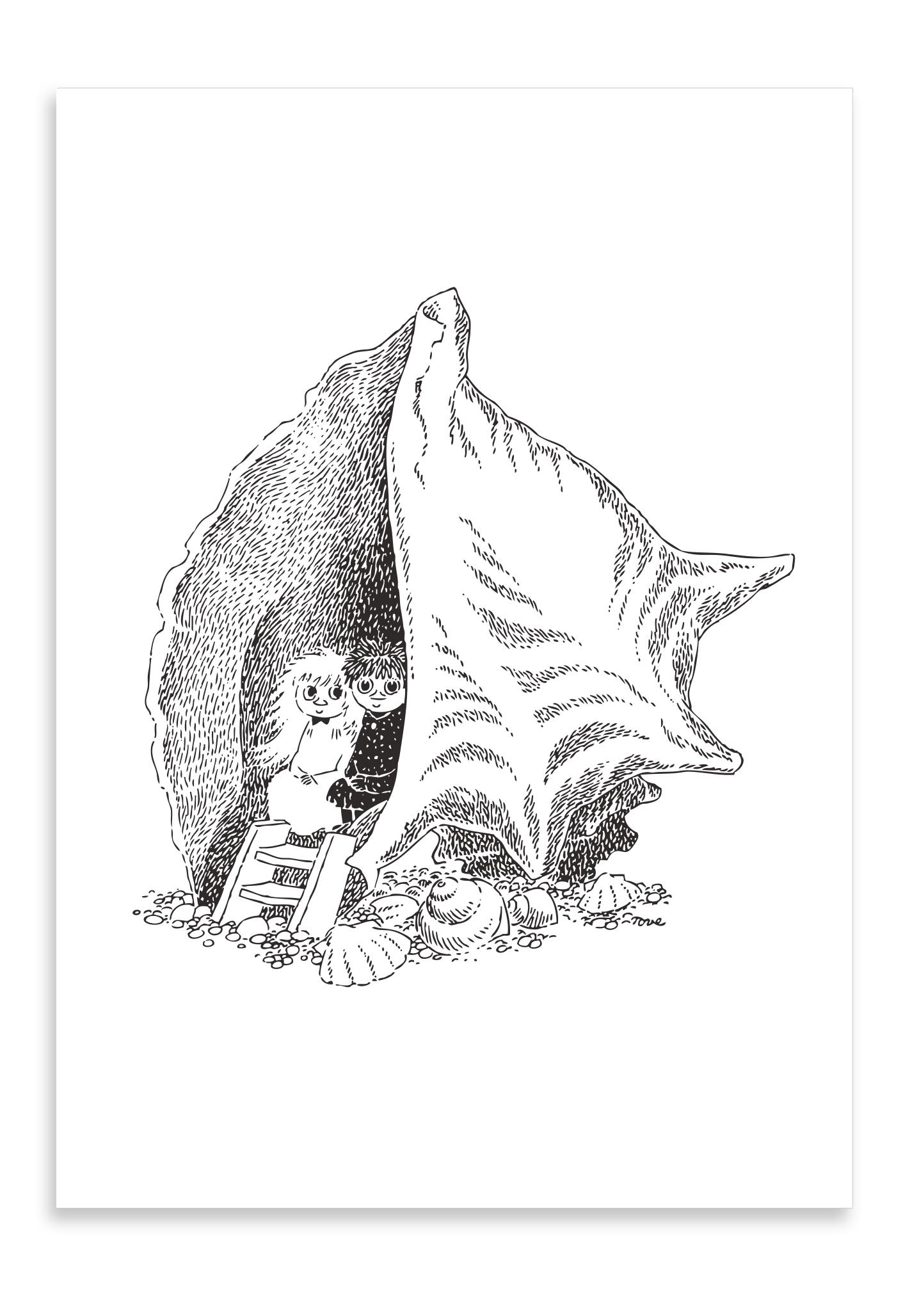 Putinki Letterpress Postcard Seashell