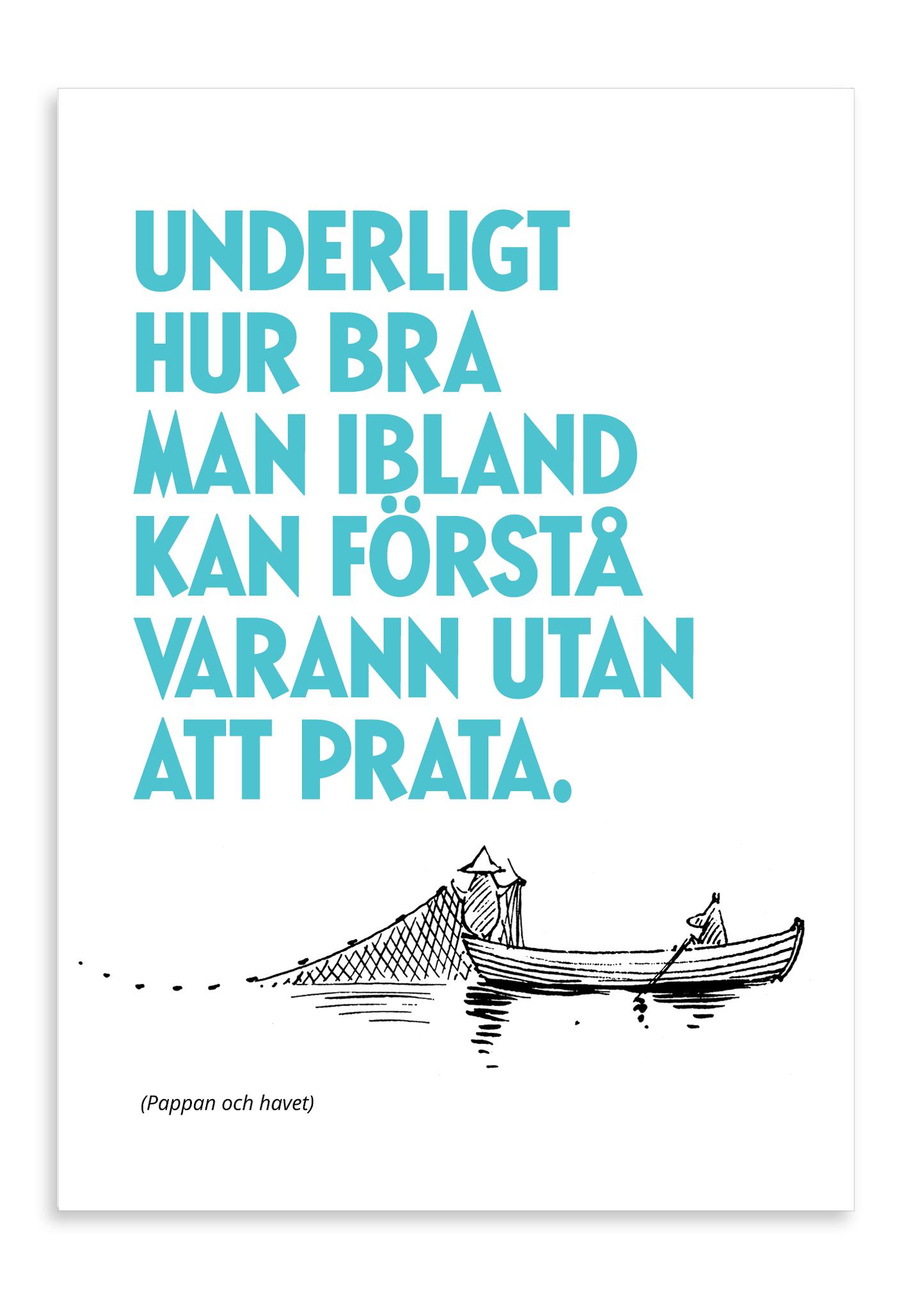 Putinki Letterpress Postcard Utan att prata
