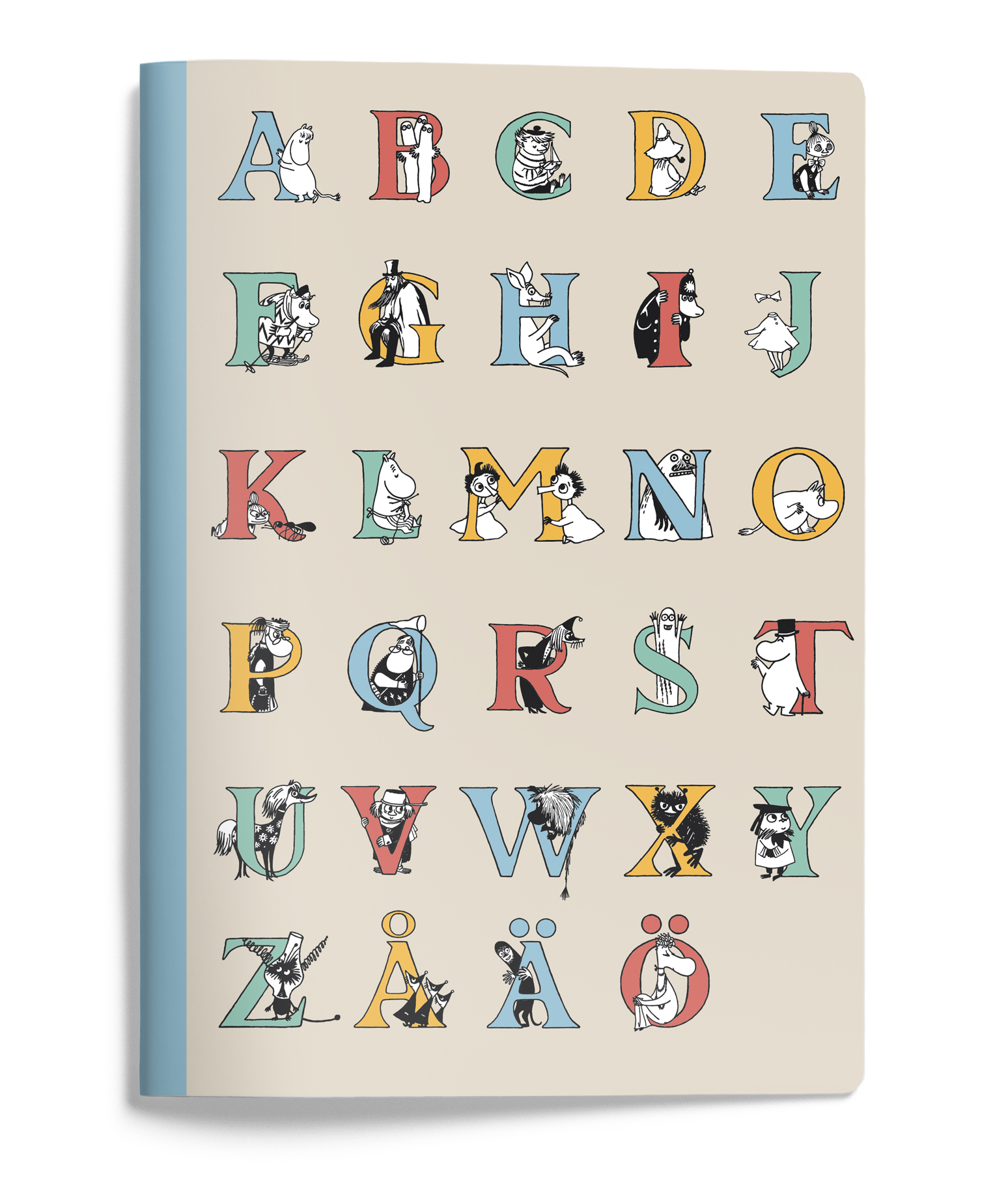 Putinki Softcover Notebook A5 ABC Letters