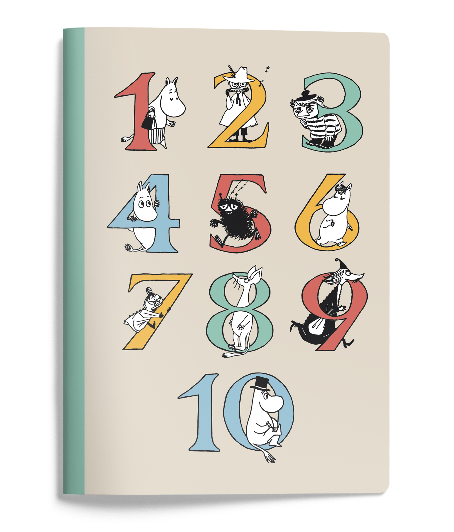 Putinki Softcover Notebook A5 ABC Numbers