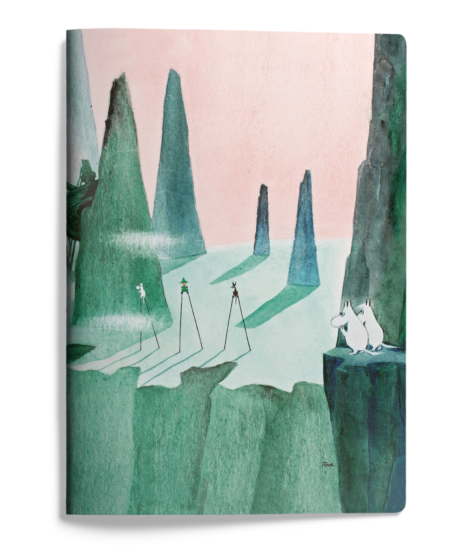 Putinki Softcover Notebook A5 Comet in Moominland