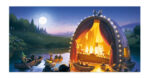 Putinki Panoramic Postcard Moominvalley Golden Tale
