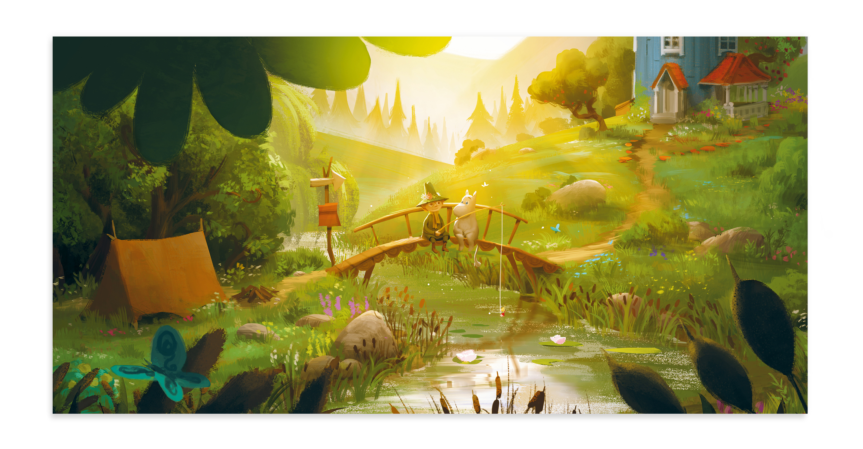 Putinki Panoramic Postcard Moominvalley Last Dragon