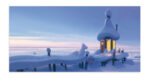Putinki Panoramic Postcard Moominvalley Winter