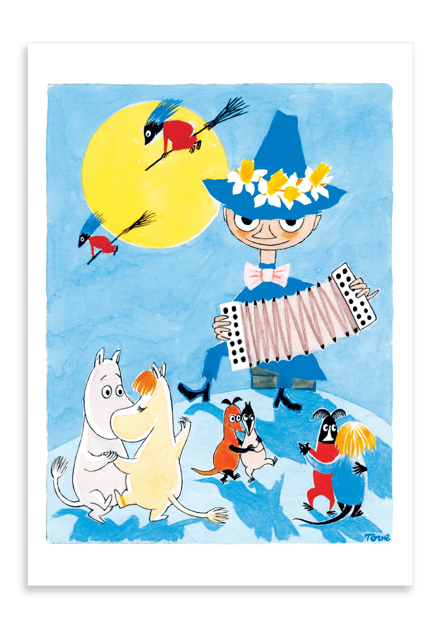 Putinki Postcard Easter Snufkin