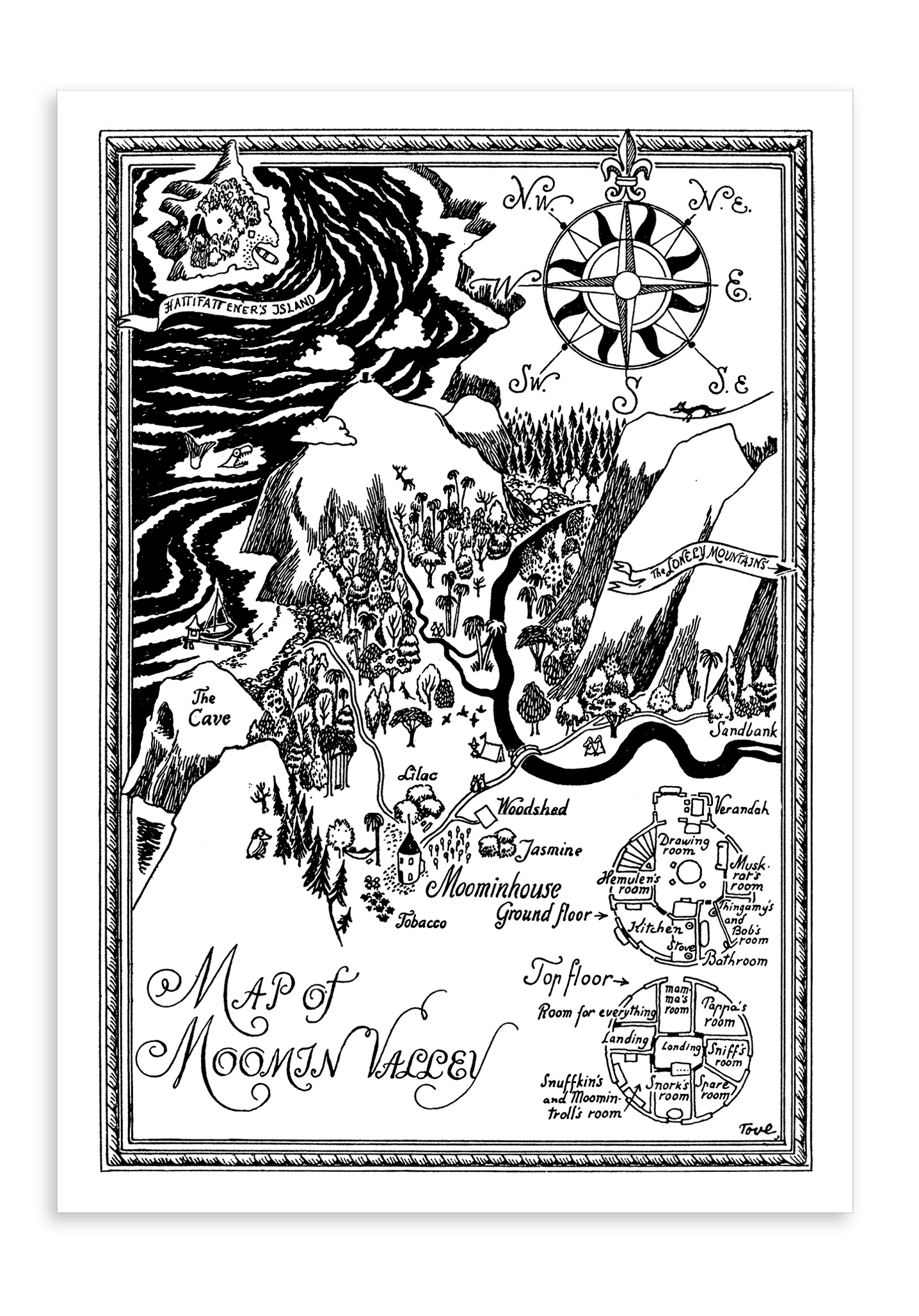 Putinki Postcard Map of Moominvalley
