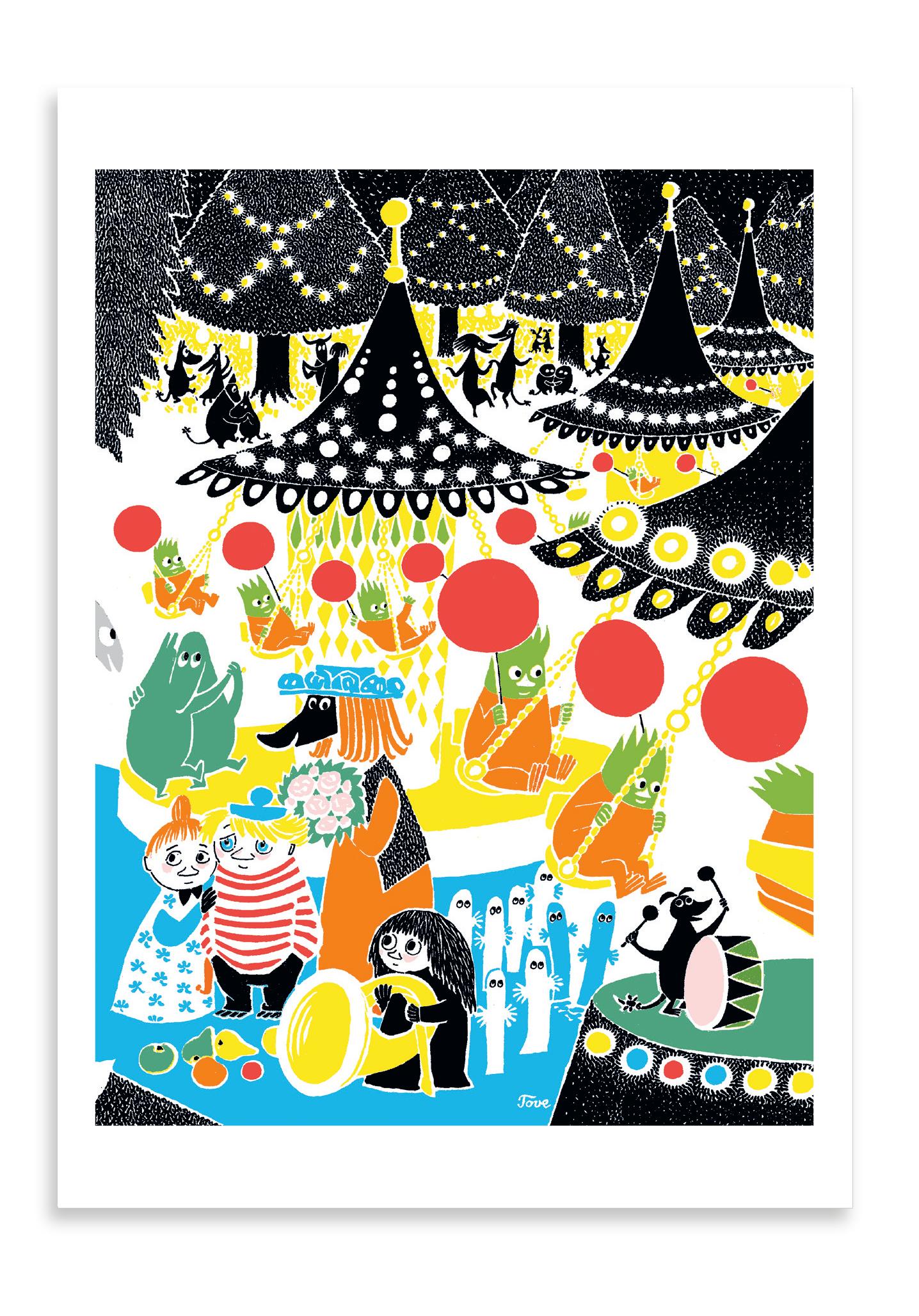 Putinki Postcard Merry-Go-Round